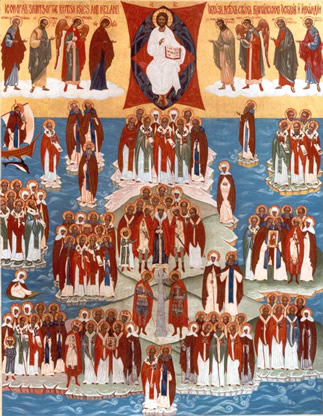 Icon of the Orthodox Saints of the British Isles