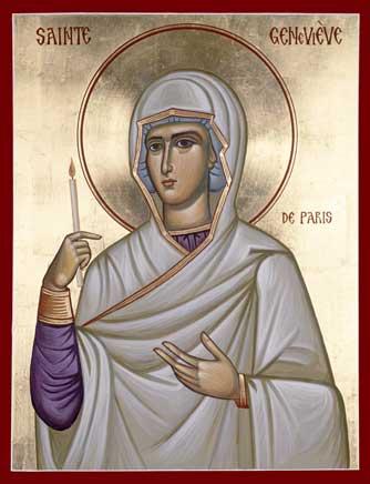 Icon of St. Geneviève of Paris