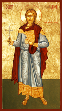 Orthodox Christian Icon of British Saint,  St. Alban, the Protomartyr of Britain