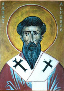Orthodox Christian Icon of English Saint, Ælfheah (Alphege) the Martyr