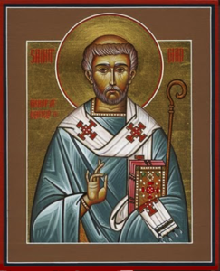 Orthodox Christian Icon of English Saint, St. Ceadda (Chad) of Lichfield