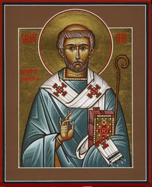 Orthodox Christian Icon of English Saint, Ceadda (Chad) of Lichfield