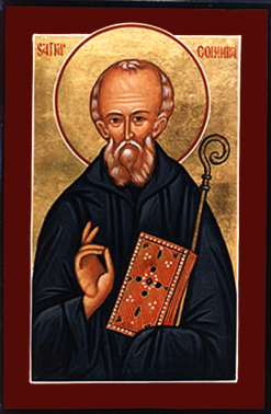 Orthodox Christian Icon of British Saint, St. Columba of Iona