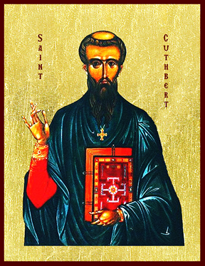 Icon of St. Cuthbert of Lindisfarne