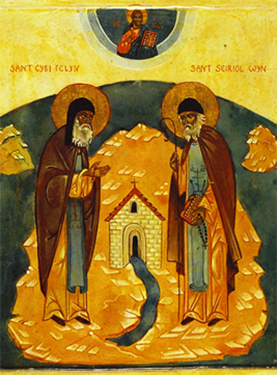 Icon of SS. Cybi and Seriol