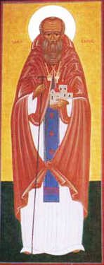 Orthodox Christian Icon of British Saint, St. Cadog (Cadoc)