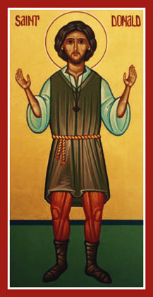 Orthodox Christian Icon of Scottish Saint, St. Donald of Ogilvy