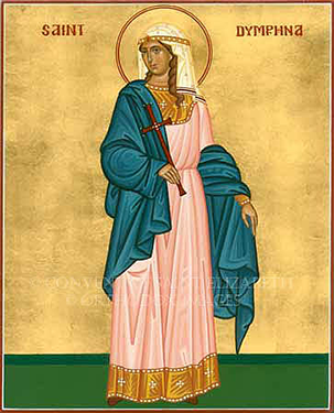 Orthodox Christian Icon of St. Dymphna of Gheel