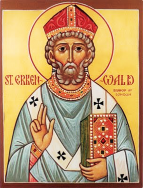 Orthodox Christian Icon of English Saint, St. Earconwald of London