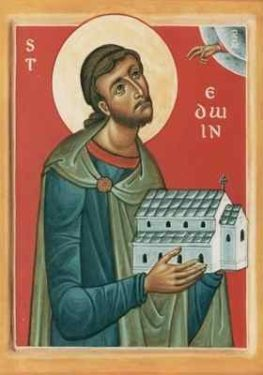 Orthodox Christian Icon of English Saint, The Holy, Glorious, Right-Victorious Martyr, and Right-Believing King Eadwine (Edwin) of Northumbria