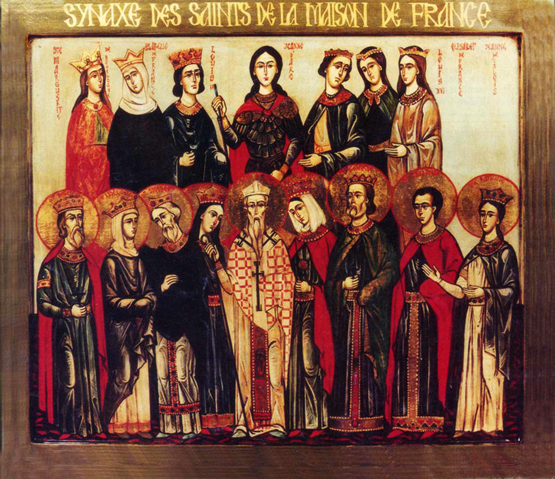 Orthodox Christian Icon of the Synaxis of All Saints of France.