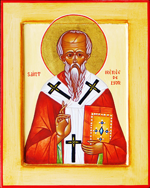 Orthodox Christian Icon of French Saint,  St. Irenaeus of Lyons