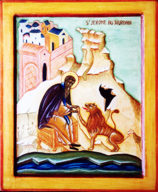 Orthodox Christian Icon of St. Jerome