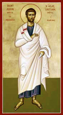 Orthodox Christian Icon of St. Justin the Philosopher (St. Justin Martyr)