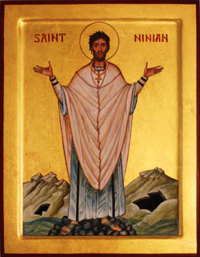 Orthodox Christian Icon of English Saint, St. Ninian