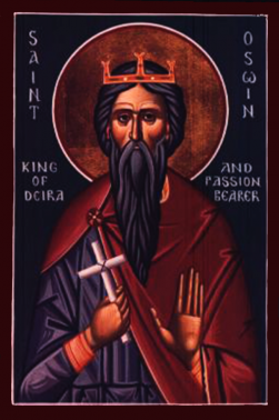 Orthodox Icon of English Saint, King Oswine of Deira 251x378px