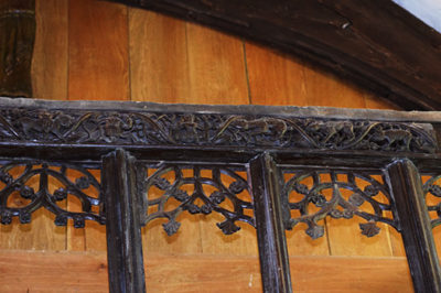 Photo of the Rood Screen at St Melangell's Church, Pennant Melangell, Wales